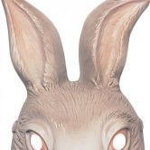 Bunny Mask Plastic | Hare | Rabbit | Alice in Wonderland | Rubies